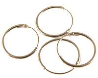Fire små creol øreringe  i sølv