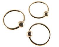 Tre små creol øreringe  i sølv