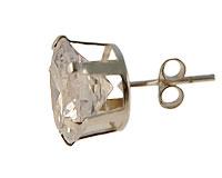 Ørestik af sølv 9 mm, 10 mm