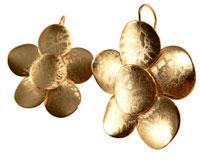 Elegant guld blomst ørering