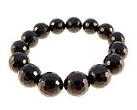 Black agate armbånd