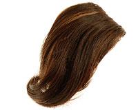 100% ægte pandehår i mørkebrun og lysebrun