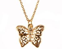 Se mere om ENVY halsk�de af sommerfulg i guld i web-butikken