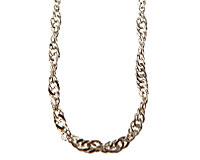 Kæden i sølv farve