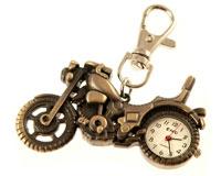 Lommeur med motorcykel