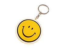 Nøgleholder med gul smilie