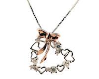 Sølvhalskæde med hjerte