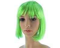 Neon grøn kort paryk