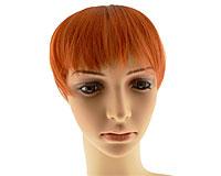 Pandehår i rødlig orange farve med 4 clips