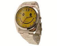 Armbåndsur med gul smilie