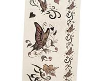 Se mere om Tatoveringer til b�rn med sommerfugle i rosa farver i web-butikken
