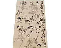 Se mere om Tatoveringer til b�rn med blomster i gr� farver i web-butikken