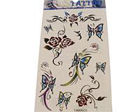 Se mere om Tatoveringer med blomster og sommerfugle i mange flotte farver i web-butikken