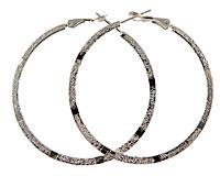 Store runde sølv creoler (ØR220)