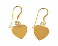 Se mere om Forgyldte sølv øreringe med guld hjerter i web-butikken