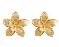 Se mere om Bee ørestikker af 9 kt guld udformet som en blomst med blade i web-butikken