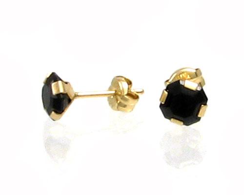 Se mere om bee ørestikker af guld med sorte zirkonia i web-butikken