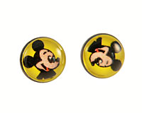 Se mere om Runde ørestikker i gul farve med Mickey Mouse i web-butikken