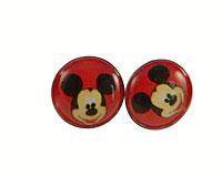 Se mere om Runde ørestikker i rød farve med Mickey Mouse i web-butikken