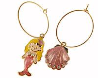 Se mere om Øreringe med den lille havfrue  i web-butikken