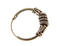 Se mere om Sølv creol i sterling sølv 925 med slangemønster i web-butikken