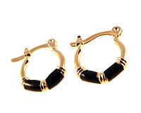 Se mere om Donna Bella creol øreringe belagt af 18 karat guld i web-butikken