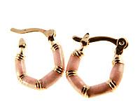 Se mere om Donna Bella creol øreringe med lyserød udsmykning i web-butikken