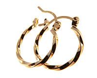 Se mere om Små runde guldbelagte øreringe i web-butikken