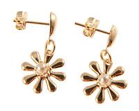 Se mere om Donna Bella øreringe med blomst i 18 karat guld i web-butikken