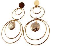 Se mere om Store og lange Donna Bella øreringe belagt med 18 karat guld i web-butikken
