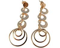 Se mere om Lange Donna Bella øreringe belagt med 18 karat guld i web-butikken