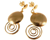 Se mere om Donna Bella øreringe af guld i web-butikken