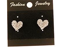 Se mere om Øreringe med hjerter belagt med hvide sten i web-butikken