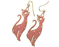 Se mere om Øreringe med kattte i lyserød farve i web-butikken