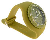 Se mere om Silikone ur med bred oliven grøn rem og oliven grøn urskive i web-butikken