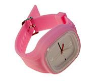 Se mere om Stort lyserød silikone sportsur med firkantet urkasse i web-butikken