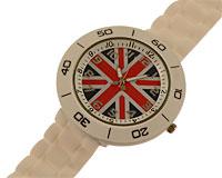 Se mere om Hvidt silikone sportsur med Engelsk flag i web-butikken