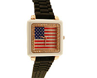 Se mere om Sort silikone sportsur med American flag i web-butikken