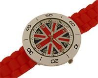 Se mere om Silikone sportsur med Engelsk flag i rød farve i web-butikken