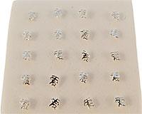 """Se mere om Næse piercing 925 sterling sølv med kinesiske tegn """"love"""" og har en lille kugle i enden, så den ikke så nemt falder af i web-butikken"""