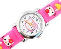 Se mere om Hello Kitty ur i lyserød farve med gule hjerter i web-butikken