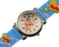 Se mere om Hello Kitty ur i lyseblå farve med søde Hello Kitty figurer i web-butikken