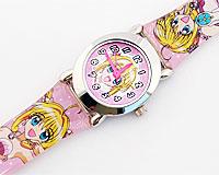 Se mere om Børneur med pige i lyserøde farver fra japansk tegnefilm i web-butikken