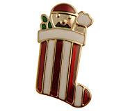 Se mere om Broche med julesok med en nisse i web-butikken