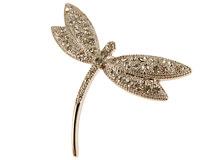Se mere om Broche af sølvsmed belagt med små hvide sten i web-butikken