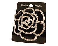Se mere om Broche i sølvfarve af store blomst i web-butikken