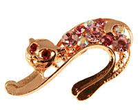 Se mere om Broche af kat i guldfarve i web-butikken