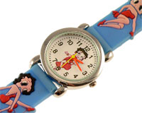 Se mere om Betty Boop ur til børn i lyseblå farve i web-butikken