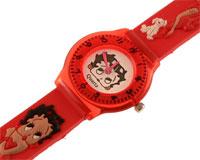 Se mere om Betty Boop børneur med rød rem i web-butikken