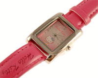Se mere om Hello Kitty ur med aflang urkasse og lyserød rem i web-butikken
